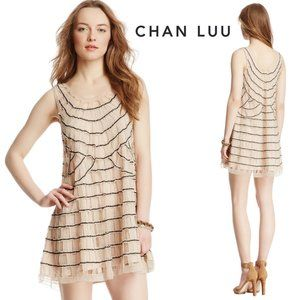 Chan Luu Cutout Embroidered Dress | 20's Art Deco
